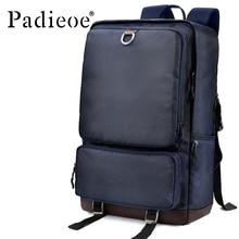 Mochila para hombre Padieoe, mochila para hombre, mochila para hombre, mochila de lona de lujo para Universidad, mochila impermeable para viaje, mochila para ordenador portátil