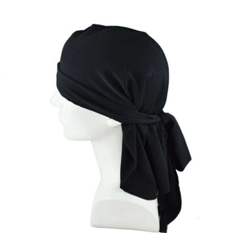 Secado rápido pañuelos en la cabeza transpirable multiuso gorro de redecilla blanco negro de Hip Hop gorra UV Bandanas para rostro motocicleta pirata bufanda ~