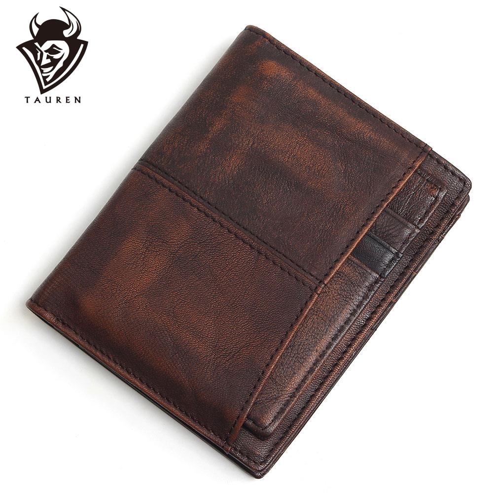 Мужские бумажники из 100% коровьей кожи, с блокировкой RFID, роскошный короткий кошелек, оригинальный бренд Carteira Masculina