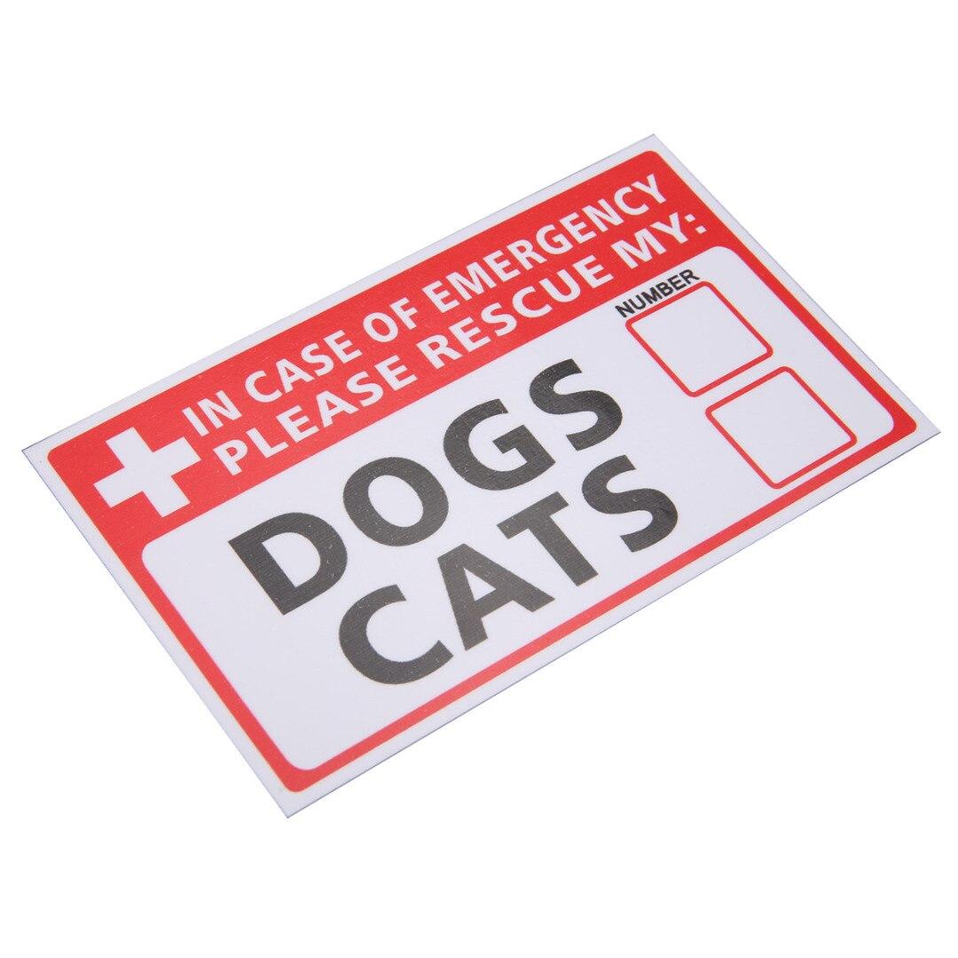 Mayitr 2 Etiqueta de PCs signos advertencia calcomanía emergencia mascota rescate perro gato vinilo pegatina primera respuesta suministros de seguridad