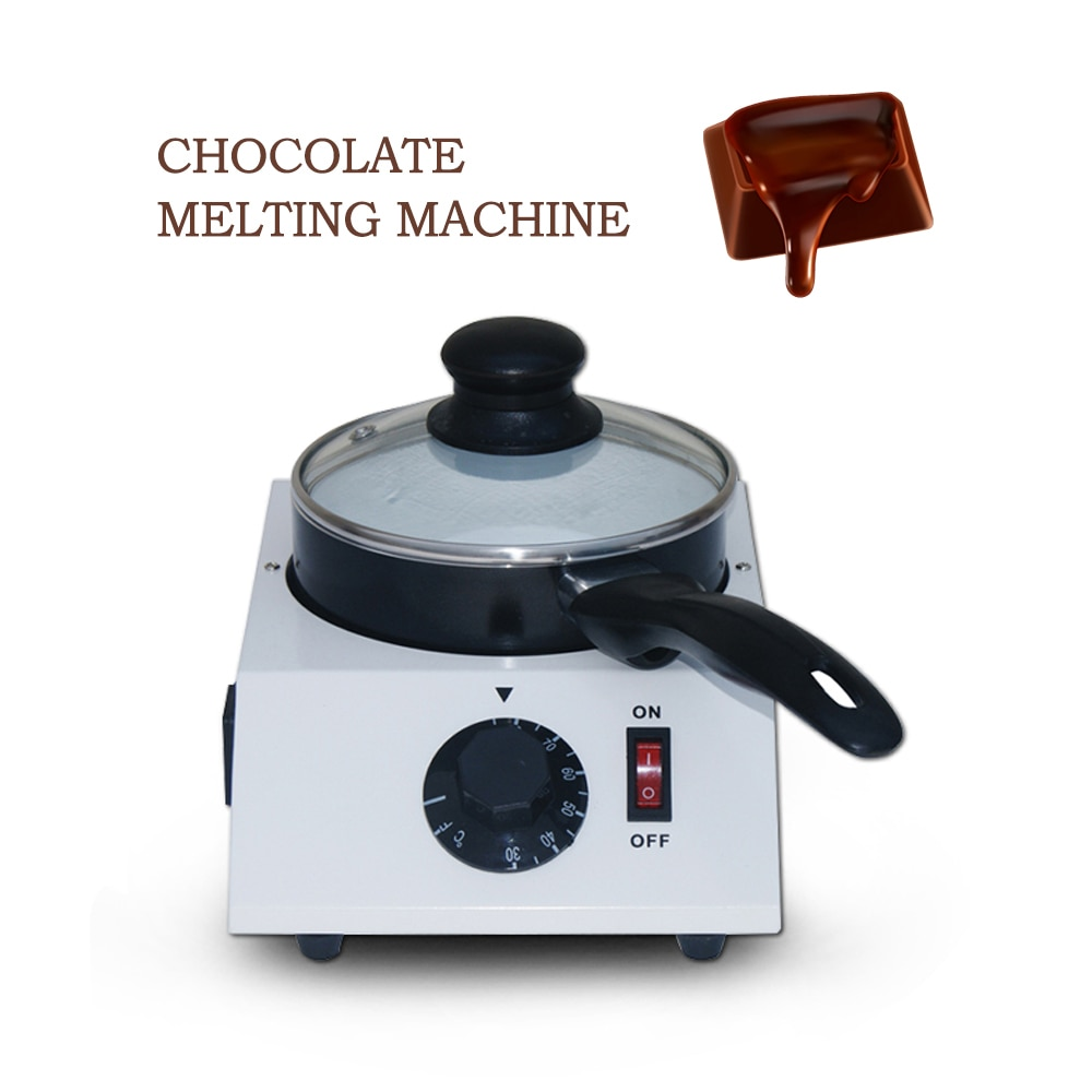 ITOP 40W Mini Electric Chocolate Cheese Melting Machine Ceramic Non-Stick Pot Tempering Cylinder Melter Pan (1 Melting Pot)