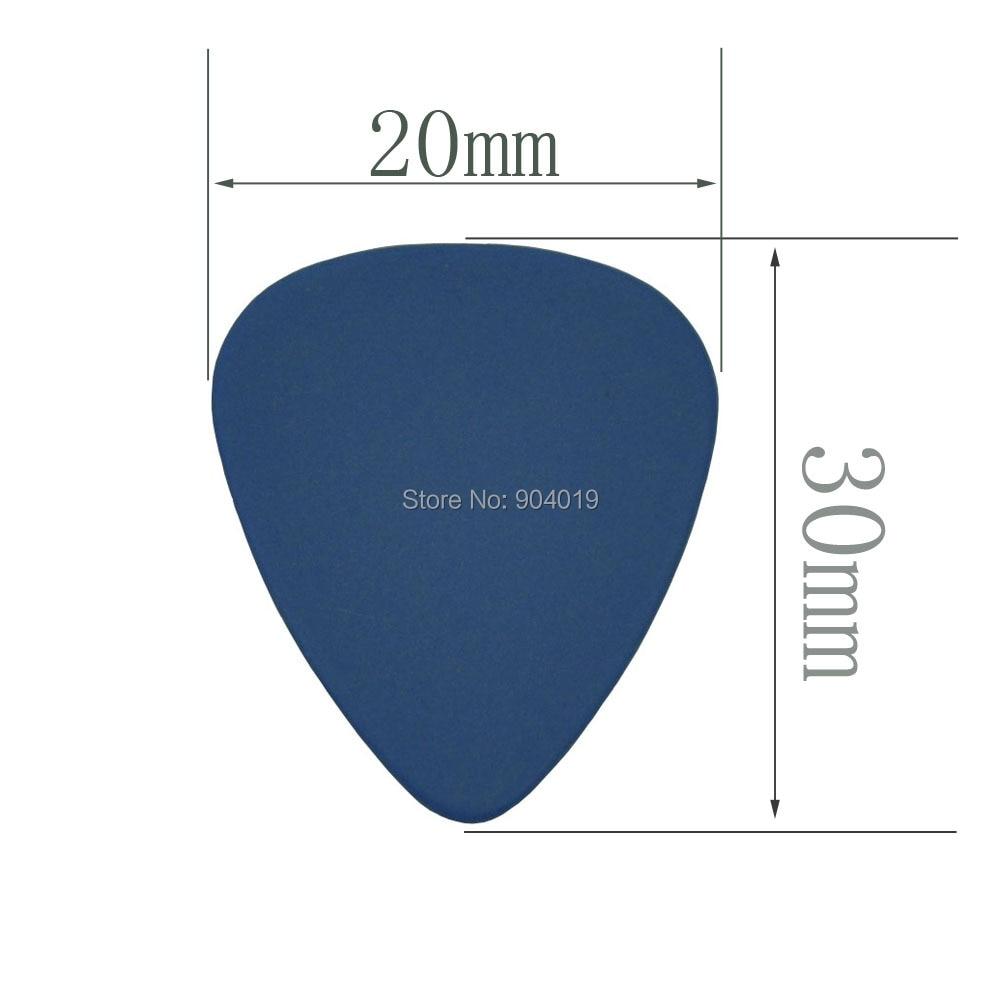 100pcs Heavy 1mm 351 Delrin Guitar Picks Plectrums Blue enlarge