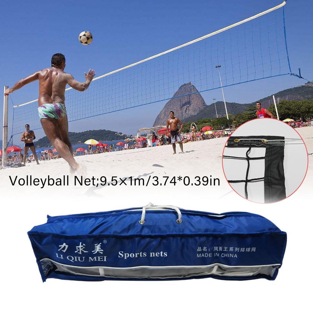 Red de voleibol de alta calidad, malla de PVC, estándar de competición, red deportiva de voleibol de playa profesional para interiores y exteriores