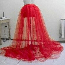 2019 New Good-Looking Fluffy Skirt Women A-line Tulle Tutu Long Skirt Wedding Party Prom Falda esponjosa Bandage Mesh Maxi Dress