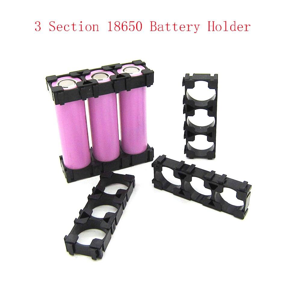 Battery Storage Box  3 x 18650 Battery Spacer Radiating Holder Bracket Electric Car Bike Toy New