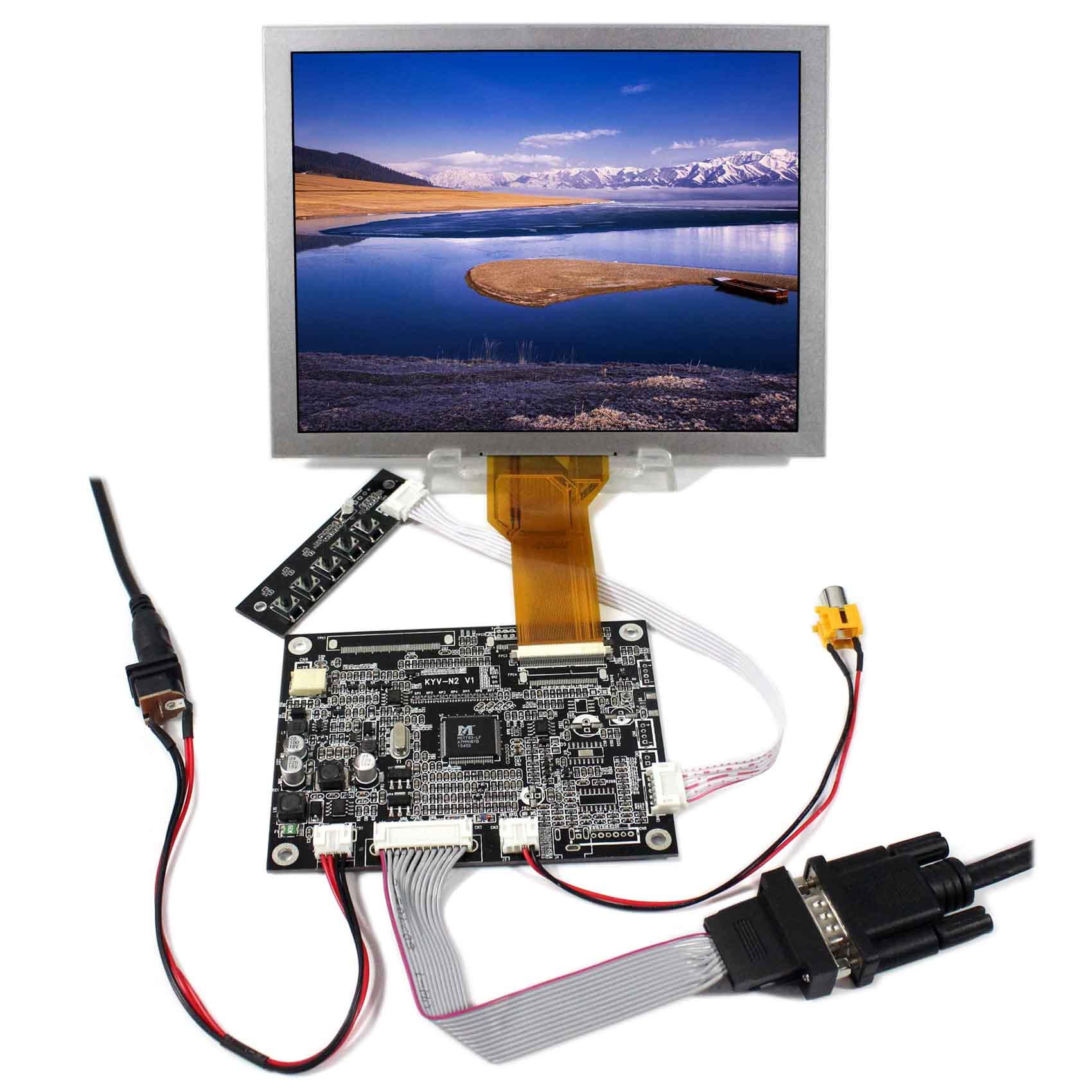 800x600 EJ080NA-05B 8 polegada lcd tela KYV-N2 v1 vga av placa de controlador lcd