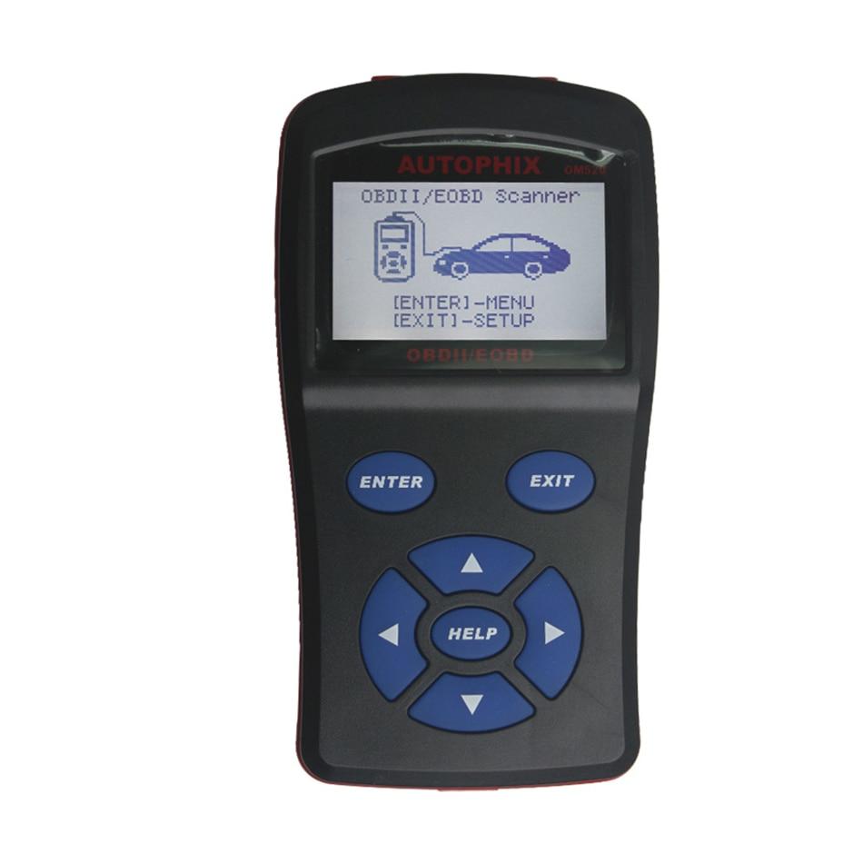 Novo obd2 scanner obdmate om520 lcd obdii/eodb carro scanner de diagnóstico obd 2 interface om520 obd 2 ii ferramenta de diagnóstico automático