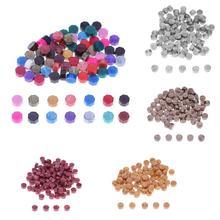 100Pcs Multicolor Stamps Wax Seal Stamp Retro Octagon Sealing Wax Beads DIY Envelope Decor  Invitation Decorative Supply