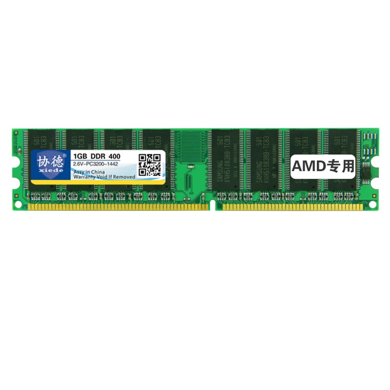 Módulo de memória ram ddr 1gb ddr1 184pin dimm do computador desktop de xiede quente