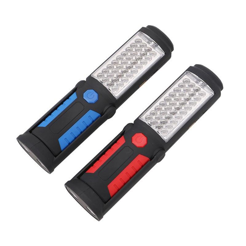 Перезаряжаемый USB светодиодный фонарик, Рабочая лампа 41 светодиода, магнитный фонарь с подставкой, поворотный крючок для кемпинга, мастерской, ремонта автомобиля