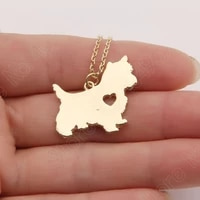 cute westie necklace pendant puppy heart dog lover memorial pet necklaces pendants women animal charms christmas gift
