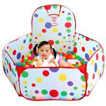 Océan boule fosse bébé parc enfants jouet tente piscine à balles avec panier jouets de plein air pour enfants Ballenbak