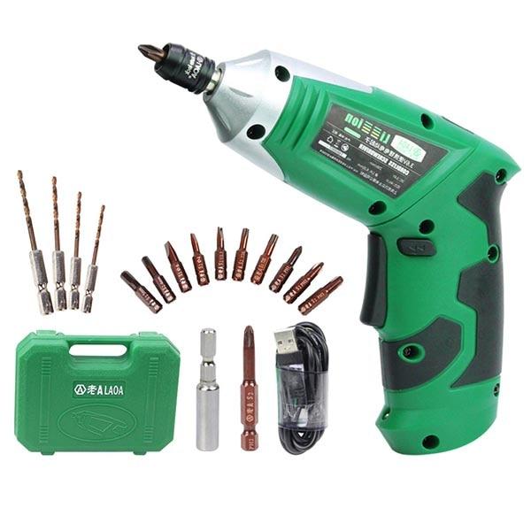 LAOA Portable Electric Screwdriver 3.6V 19 In 1 Cordless Screwdriver Smart Motion Control Power Screwdriver Repair Tool Kit