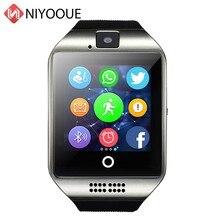 Montre intelligente Q18 Support carte Sim caméra à distance pour IOS Android porter Wach PK DZ09 GT08 Smartwatch téléphone Relogio Inteligente