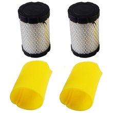 2 pièces filtres à Air pour tondeuse remplacer Brigges Stratton 796031 (591334 ou 594201) Plus 797704 mousse pré-nettoyant accessoires pour outils électriques