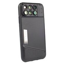 Pholes 6-In-1 Phone Lens Case For Iphone X Dual 2X Telephoto+10X Macro+20X Macro+120 Degree Wide Angle+180 Degree Fisheye Lens