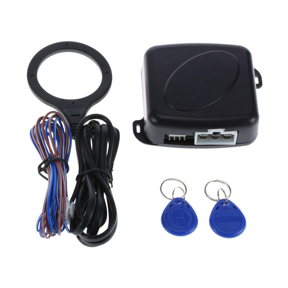 Alarma automática para coche, botón de inicio y parada del motor, Starline, bloqueo RFID, interruptor de encendido, sistema de entrada sin llave, sistema antirrobo de arranque