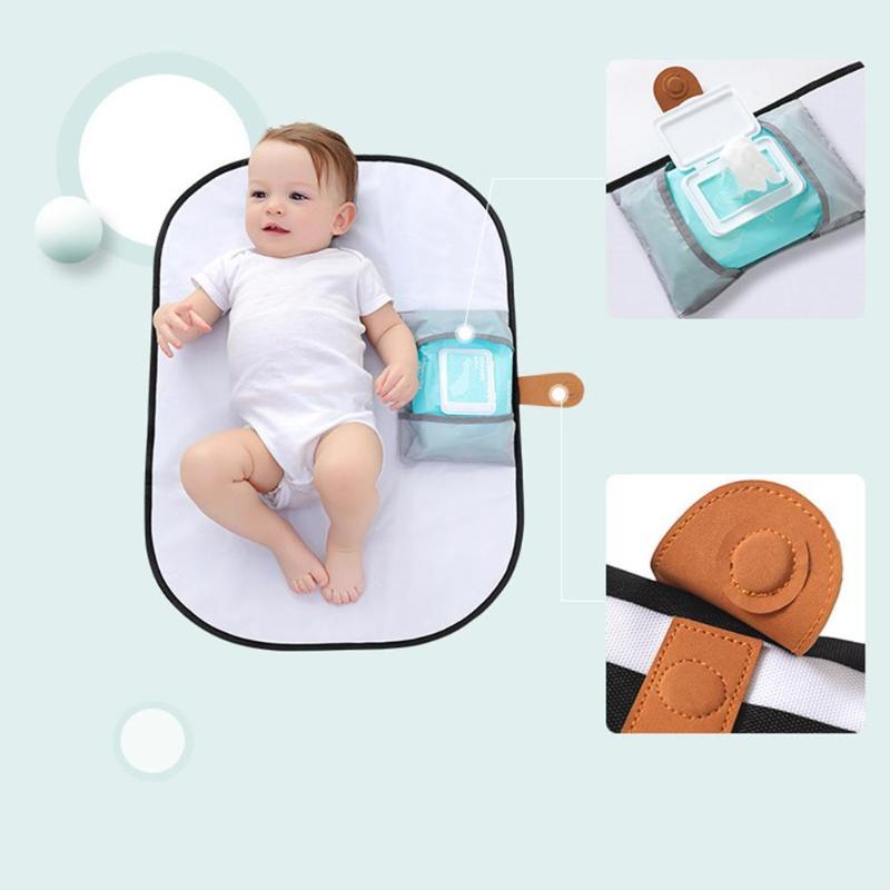 Alfombrilla plegable impermeable para suelo de viaje y juegos de bebé, alfombrilla para cambiar pañales, impermeable, portátil, accesorios para cochecito, cosas para bebé, cuidado del bebé