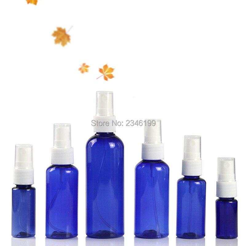 Plastic Spray Bottle 60ml Empty Blue Spray Pump Bottle 50ml Spray Bottle 20ml 30ml Empty Plastic Cosmetic Container 100ml 50pcs