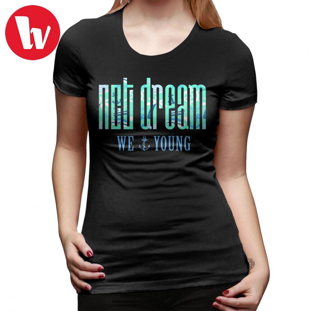 Nct Dream camiseta NCT DREAM We Young 100 Camiseta de algodón de manga corta para mujer divertida camiseta verde XXL para mujer