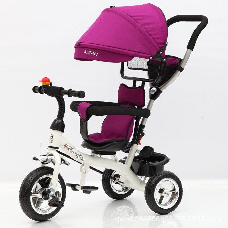 دراجة ثلاثية العجلات للأطفال عربة للطي ثلاث عجلات عربة دراجة الدورية مقعد طفل سيارة للتحويل مقبض الحرة التضخم عجلات