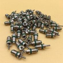 10 unidades de válvulas de núcleo de válvula de neumático R134a 134a A/C, Kit de reparación surtido de agujas, núcleos de válvula de refrigerantes de aire acondicionado de coche