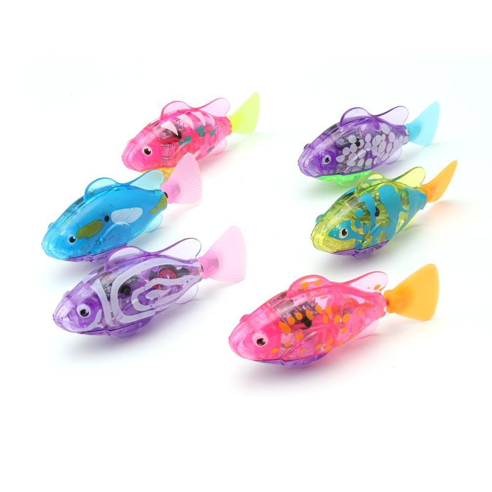 Swimming Electronic Fish Activated Battery Fish Powered Toy For Children Kid Bathing Toys Gift Multi-Colored