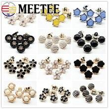 50pcs Meetee 12mm Decor Plastic Buttons Chiffon Shirt Women Dress Shank Button for Sewing Cothing Accessories DIY Crafts AP2261