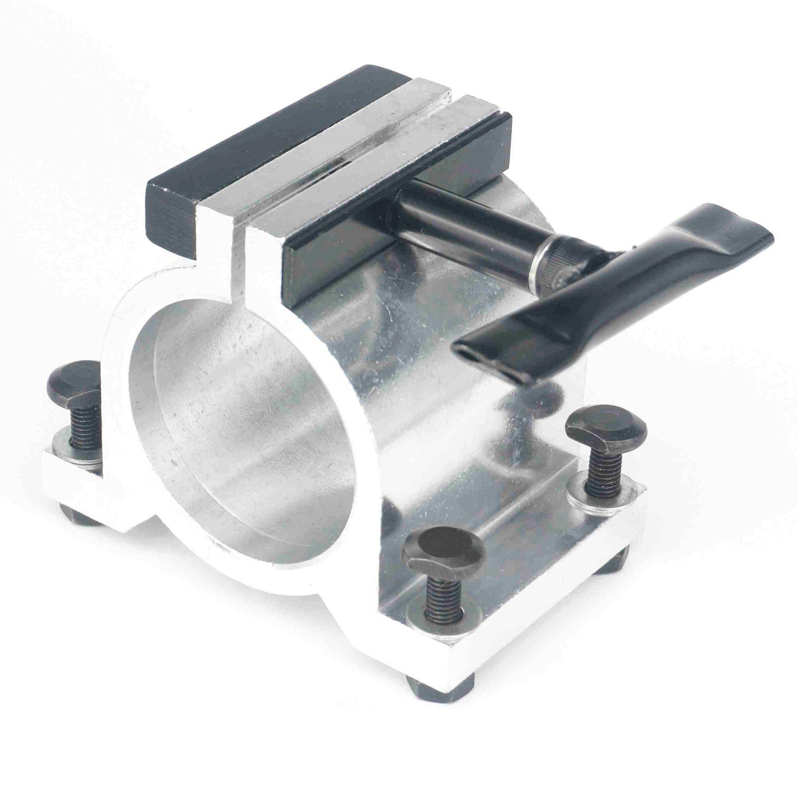 65mm Diameter Silvery Aluminum CNC Spindle Motor Holder Mount Bracket Clamp Cast Adjustable Handle Engraving Machine