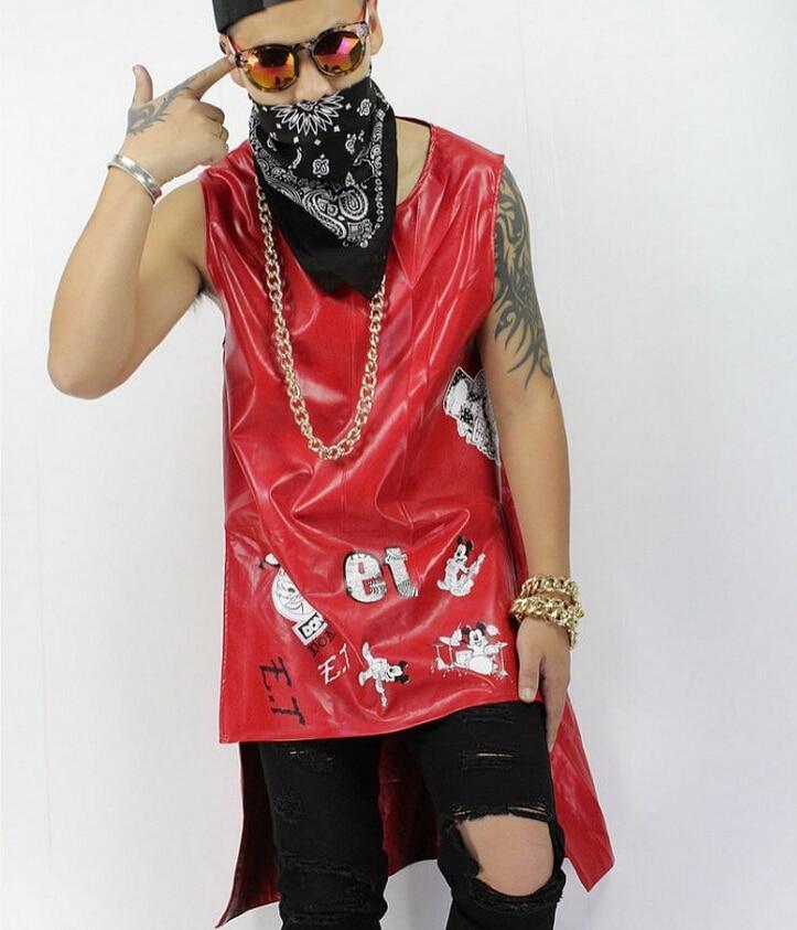 S-xxl-سترة جلدية طويلة للرجال ، سترة طويلة نحيفة عصرية كورية ، ملابس مغنية ، أداء ، مجموعة جديدة 2021