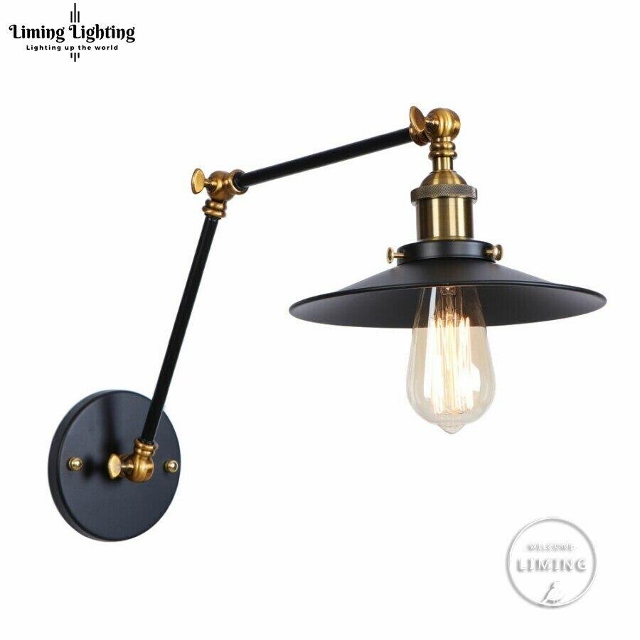 Винтажный Регулируемый промышленный металлический настенный светильник E27 ретро Кантри стиль бра для лофт бара кафе домашний коридор