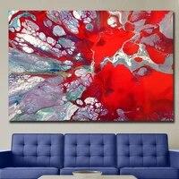 Images murales dart a la mode pour decoration de salon  toile rouge abstraite Freakaton  peinture a lhuile imprimee  images murales sans cadre