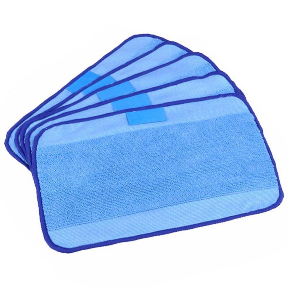 Pack de 5 paños húmedos de microfibra para mopa lavables y reutilizables aptos para iRobot Braava 380 380t 320 321 Mint 4200 4205 5200 5200C