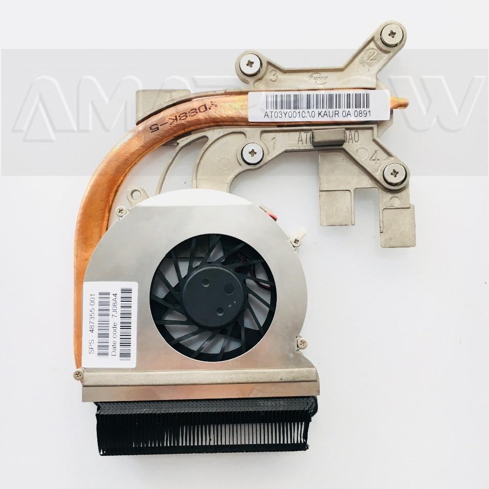 Оригинальный охлаждающий вентилятор для ноутбука cpu кулер для HP CQ40 CQ45 DV4 AMD радиатор 487355-001 495421-001
