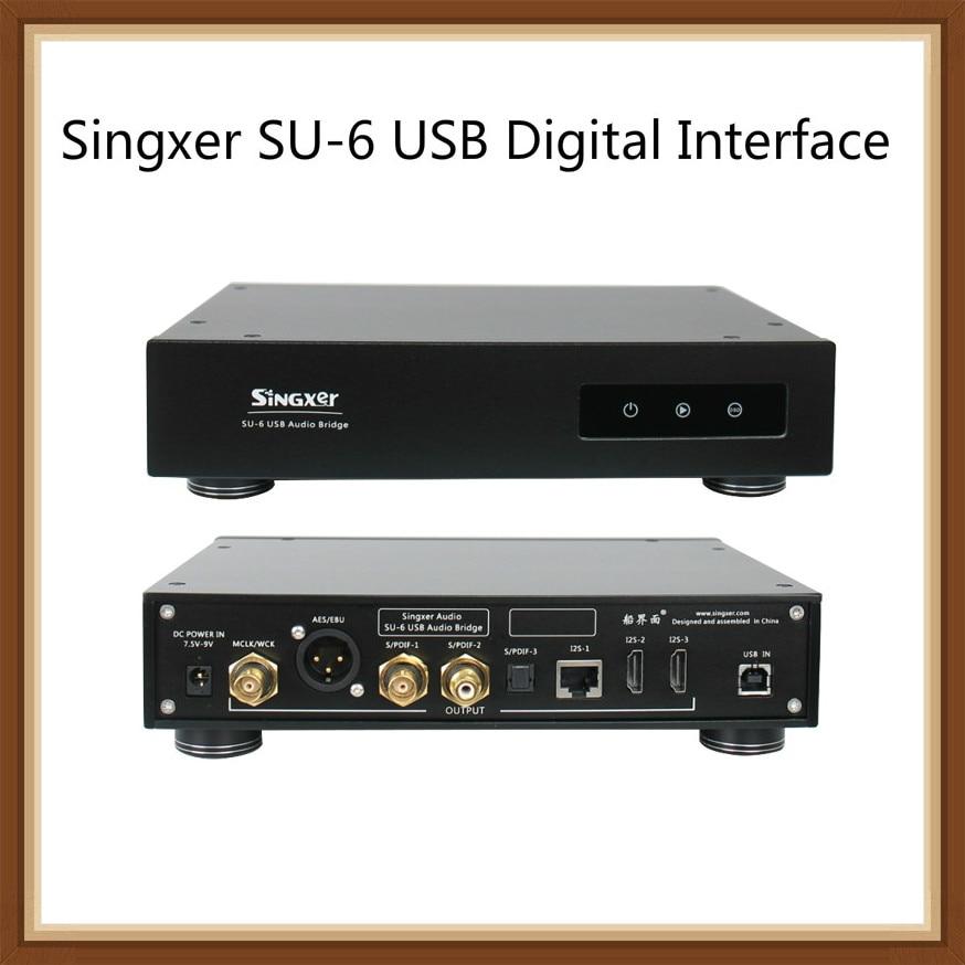 Singxer SU-6 USB واجهة رقمية XMOS XU208 CPLD فيمتثانية ساعة السفينة واجهة ويندوز 8 10 MOS أندرويد 5.0