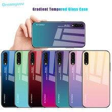 Funda de teléfono de cristal degradado para Huawei P Smart 2019 P20 Pro Lite Mate20 Nova3i Honor 20s 10 8X 9X 20 Pro carcasa colorida