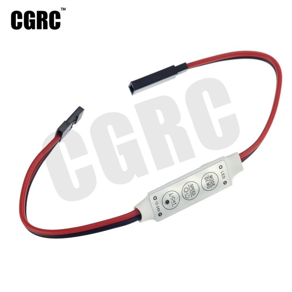 Control de luz LED Modo de parpadeo interruptor de encendido para coche trepador de Control remoto 1/10 TRX4 RC4WD D90 Axial Scx10 RC barco aeronave RC a la deriva