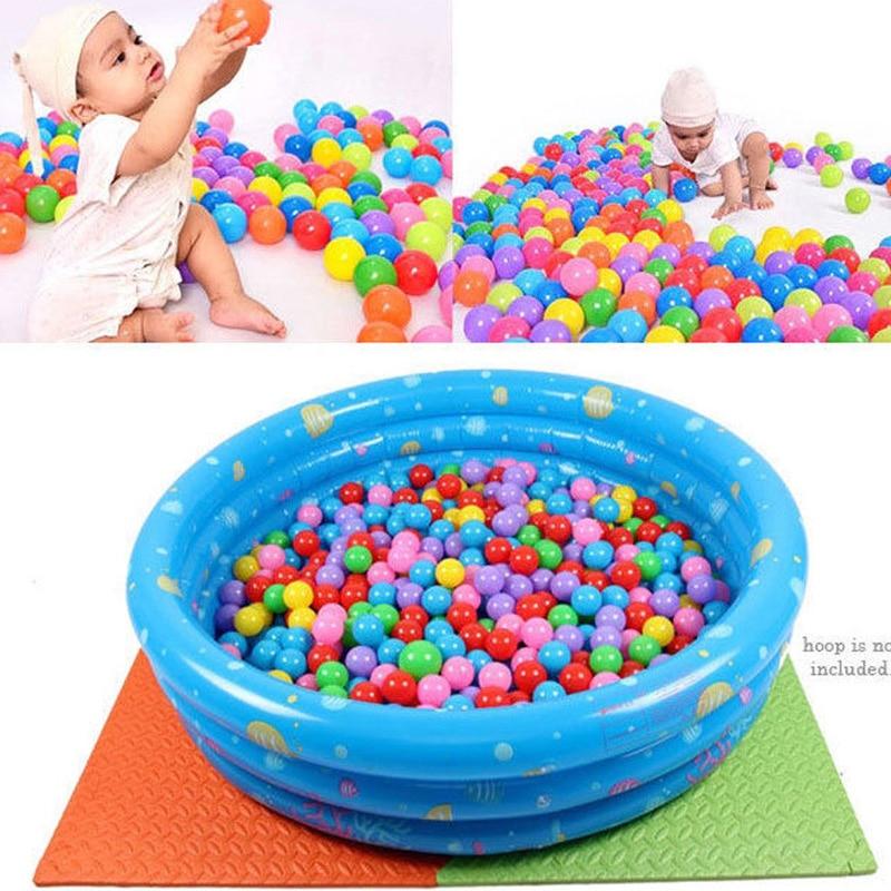 100Pcs Ocean Ball Pit Baby Kids Bath Swim Toys Children Water Pool Beach Ball Soft Plastic Balls Toys Newborn Photography Prop