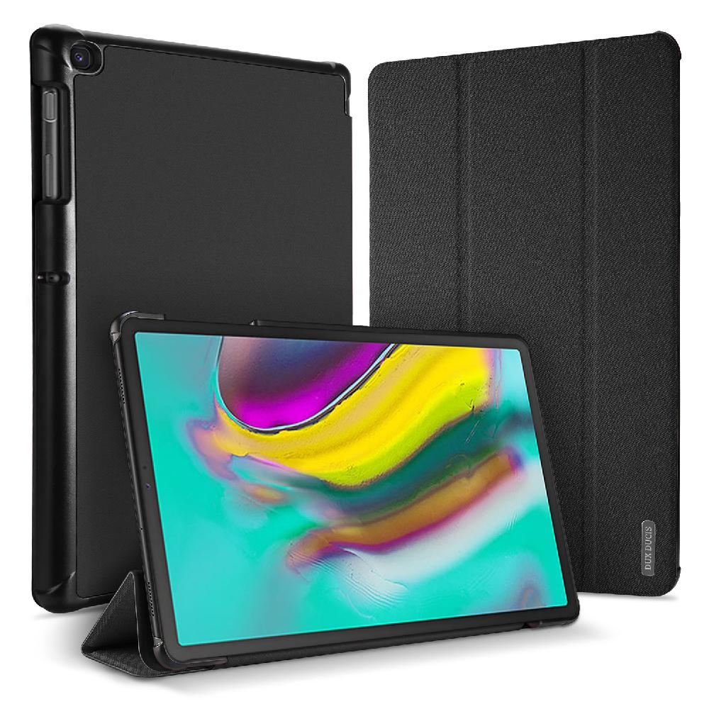 HobbyLane DUX DUCIS para Samsung Tab S5E T720, Funda de cuero PU inteligente de Color sólido, funda protectora anticaída con ranura para bolígrafo d25