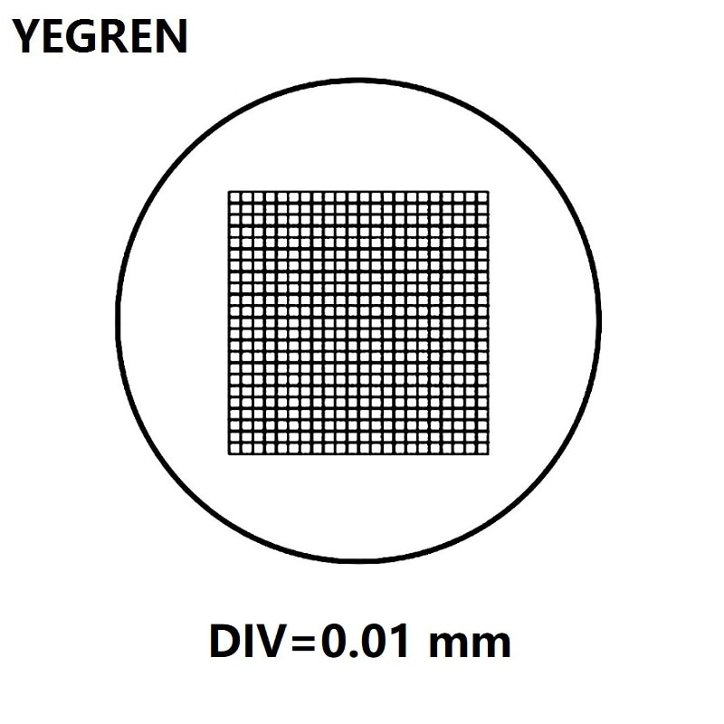 Div 0.01mm micrômetro líquido da grade do ocular para o diâmetro 20 mm cat908 c8 da escala de medição do graticulador ocular do microscópio
