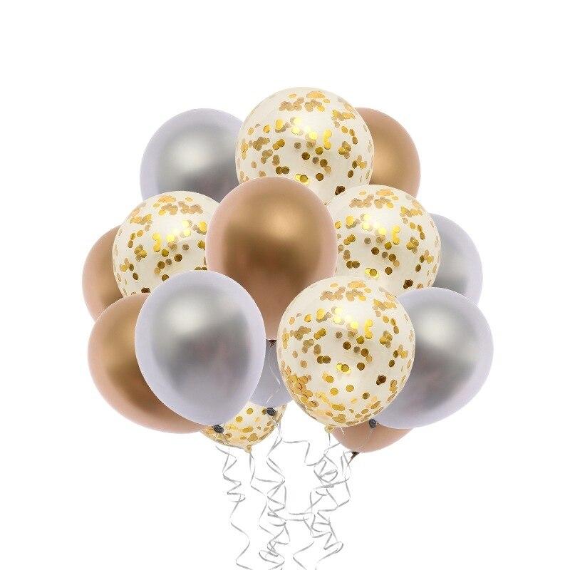12 polegada de metal lantejoulas látex balões crianças adultos decorações aniversário aniversário hélio ar bola casamento balões festa suprimentos