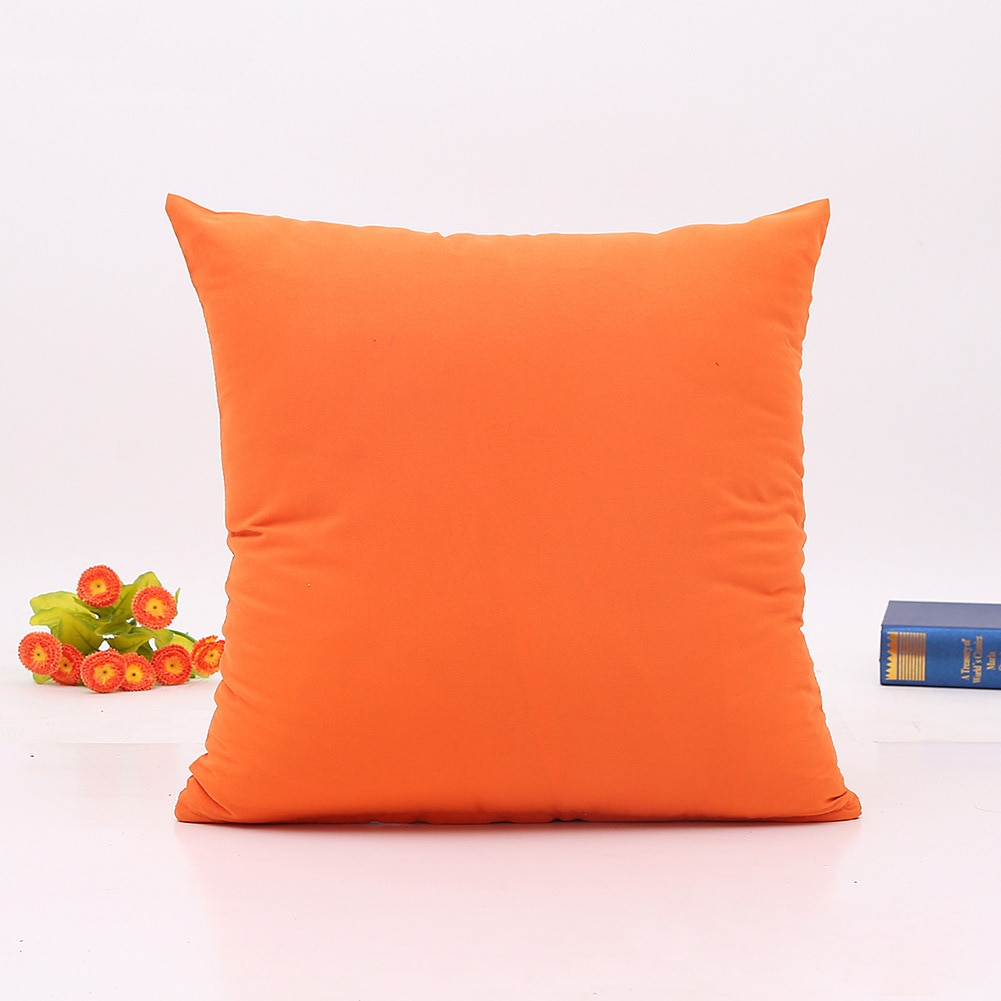 Decorative throw pillows pure color cushion for sofa home decor Almofadas pillowcase of office size 45x45cm