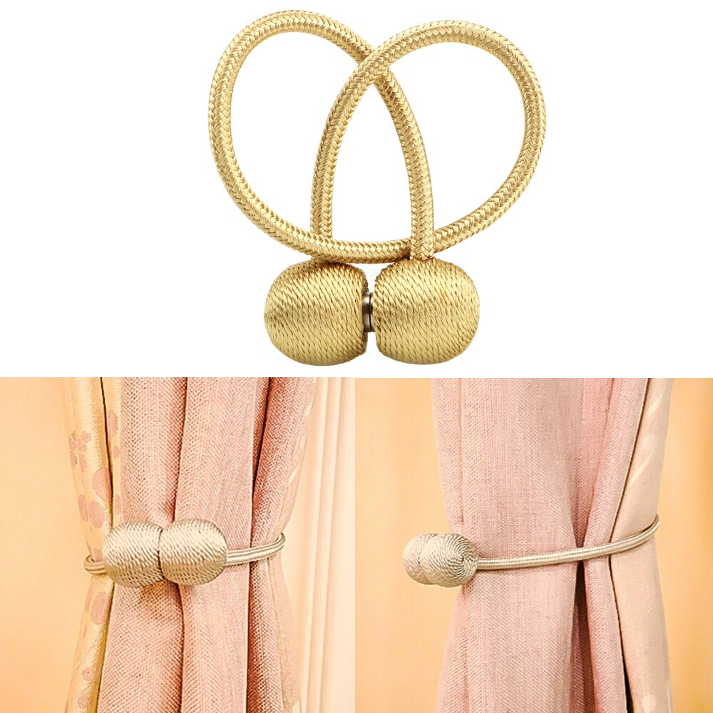 Magnético pérola bola cortina cinta fivelas de cortina gravata backs breve cortina acessórios decorativos cortinas tieback