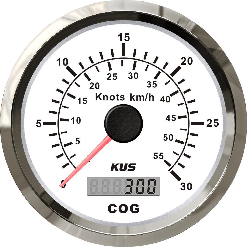 New Kus Boot Truck Auto Trailer Auto Jacht Vessel 85Mm Gps Cog 30 Knopen Km/H 12V/24V Speedo Snelheidsmeter