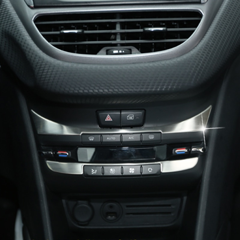 Meu painel de controle automotivo adesivos, interruptor de ar condicionado, lantejoulas interiores, adesivo para peugeot 2008 2014-2017, estilo do carro