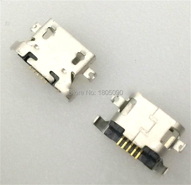 100 pces micro usb 5pin placa pesada 1.27mm sem lado de ondulação conector fêmea para lenovo a850 mini usb jack