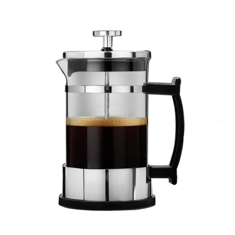 Acier inoxydable français presse cafetière cafetière filtre Portable 304 pression Moka café percolateur outil théière infuseur