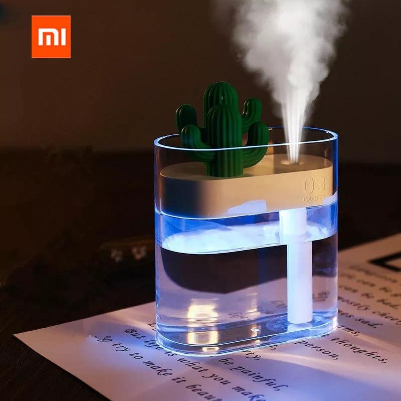 Xiaomi Mijia 319 прозрачный кактус ультразвуковой увлажнитель воздуха 160 мл цветной очиститель воздуха USB анион тумана распылитель воды