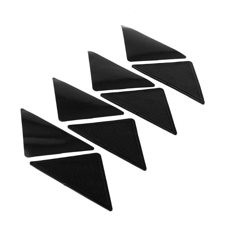2 pares antideslizantes alfombra estera pinzas antideslizantes esquinas almohadilla para baño cocina sala de estar estera de silicona pinzas