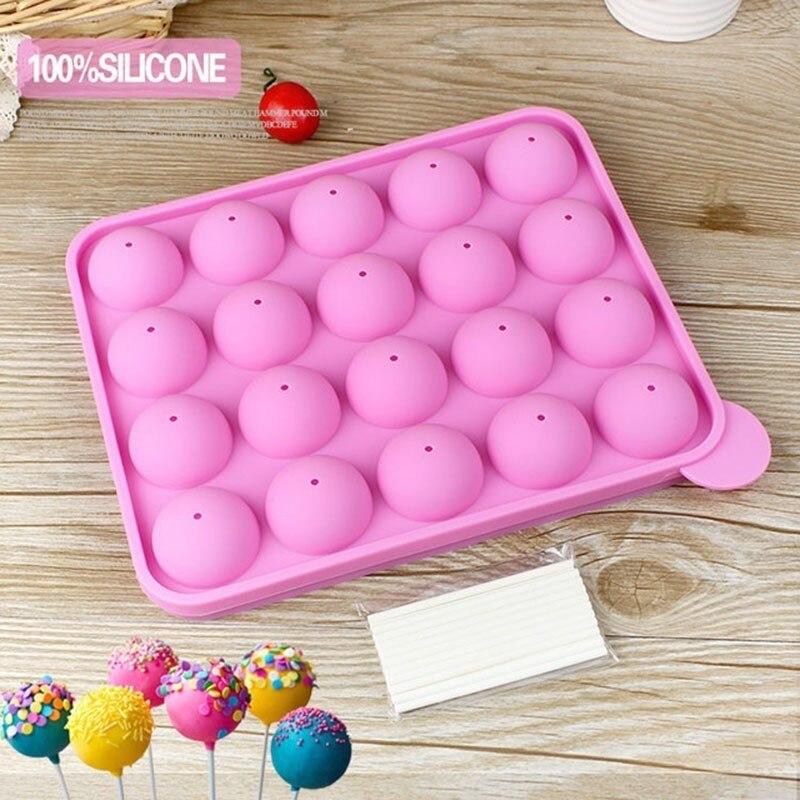 Bandeja de silicona molde de palo para torta, piruleta, molde para hornear cupcakes, bandeja de hielo, molde de Chocolate